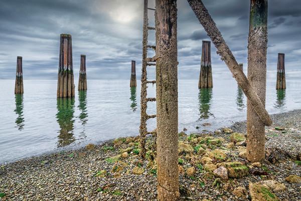 Seattle seaports, art photographs of Seattle Washington, beaches and oceans,