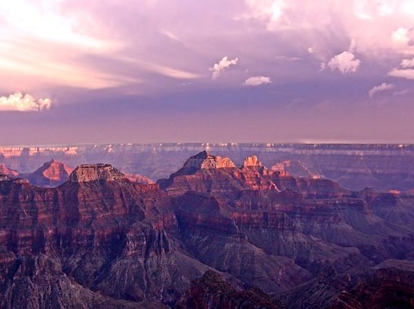 Pink Grand Canyon Scenic Sundown