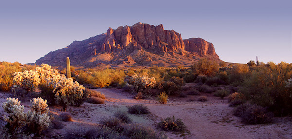 Superstition Mountain Red Sunset