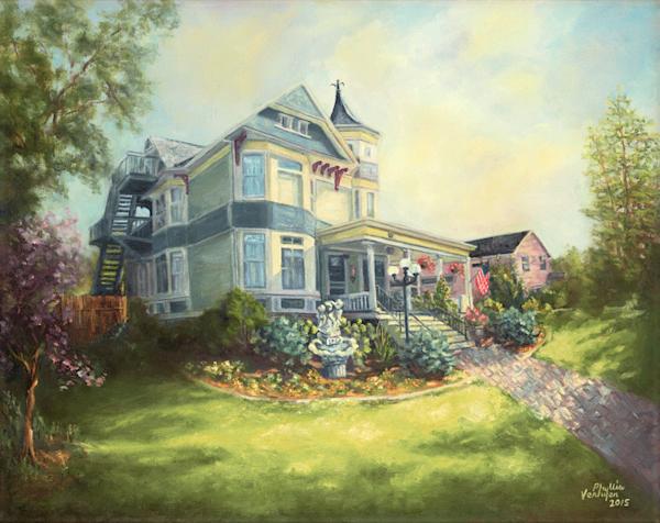 Franklin Street Inn fine art print by Phyllis Verhyen.