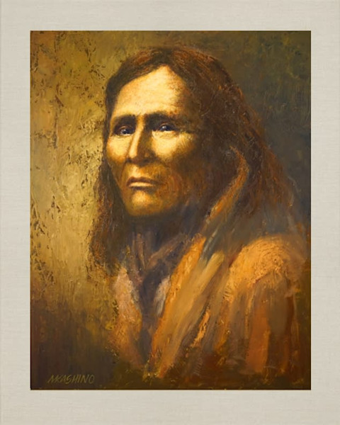 Alchise Apache, Native Americans, American Indians, Portraits, Oil Paintings, Mark Kashino