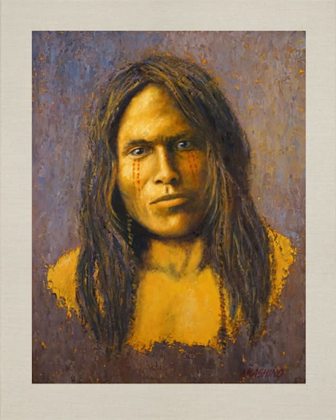 Vapore, Piegan, Native Americans, American Indians, Portraits, Oil Paintings, Mark Kashino
