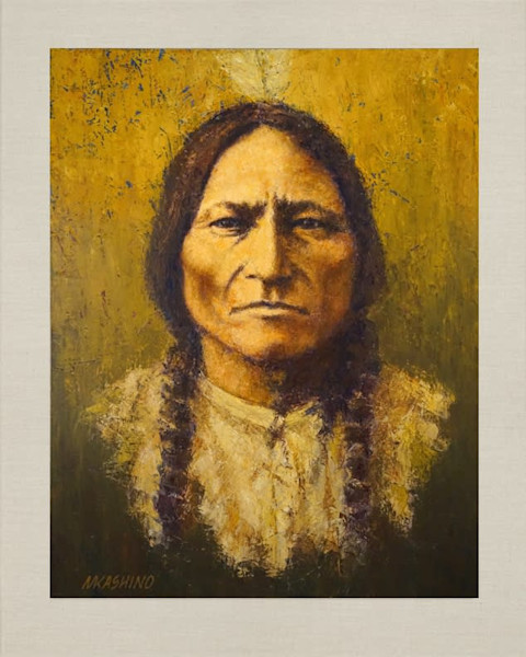 Sitting Bull, Hunkpapa Lakota, Native Americans, American Indians, Portraits, Oil Paintings, Mark Kashino