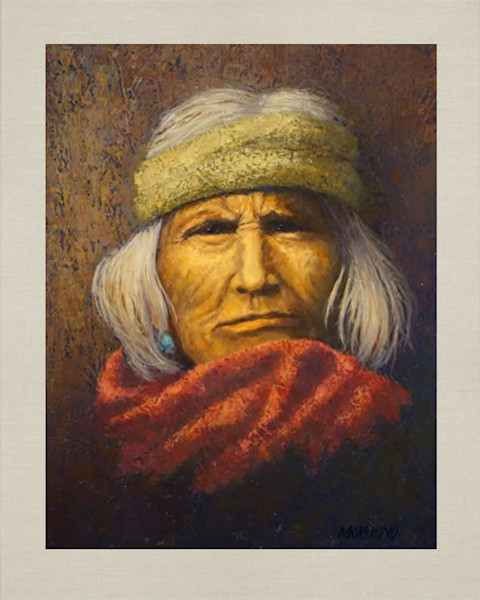 Zuni Elder, Native Americans, American Indians, Portraits, Oil Paintings, Mark Kashino