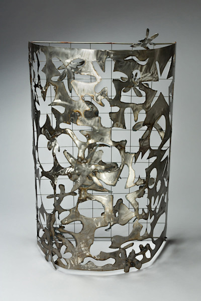 Joy of Life Luminary Welded Steel Cutout Sculpture