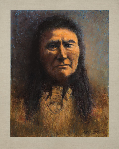 Chief Joseph, Nez Perce, Native Americans, American Indians, Portraits, Oil Paintings, Mark Kashino