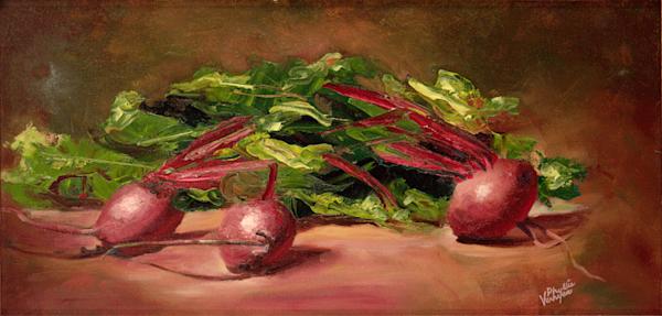 Painting Beets fine art print by Phyllis Verhyen.