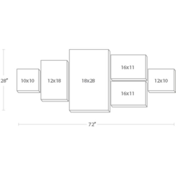 Express Canvas: Custom 72X28 6-Piece Canvas Print Wall Display Cluster