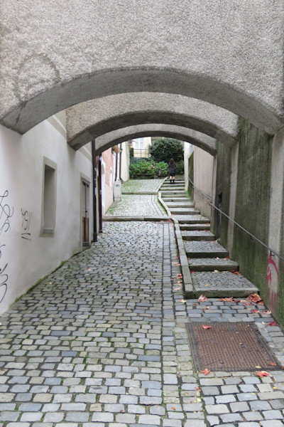 Walkway under Arches, Passau, Germany IMG 1003