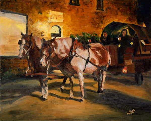 Plymouth Waiting Horses fine art print by Phyllis Verhyen.