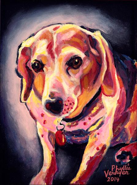 Lucy fine art print by Phyllis Verhyen.