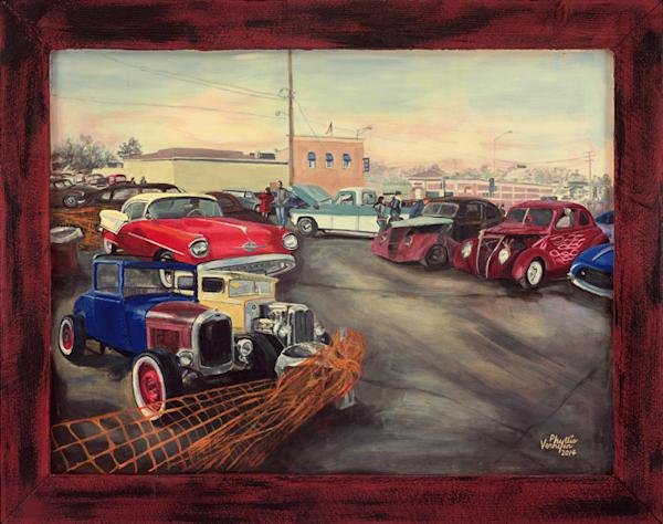 Appleton Winter Car Show fine art print by Phyllis Verhyen.