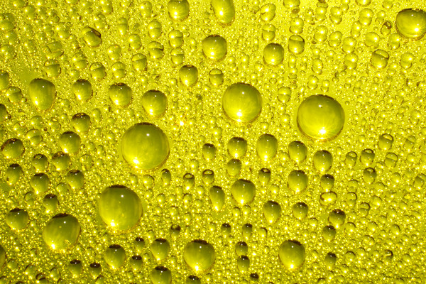 Drops of water on a colored background