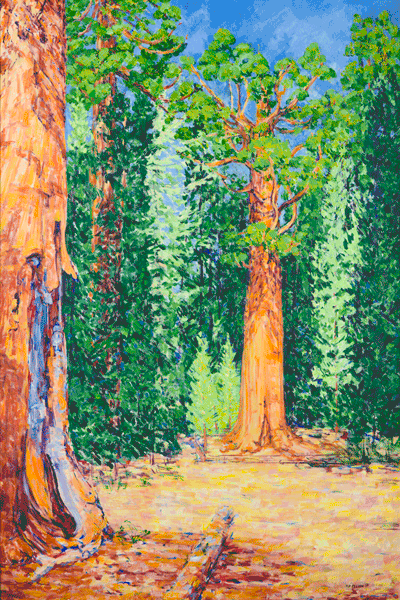 The General Sherman Tree Original 4' x 6' Acrylic Painting