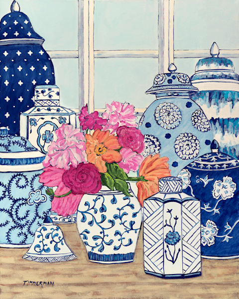 Bleu et Blanc fine art print by Barb Timmerman.