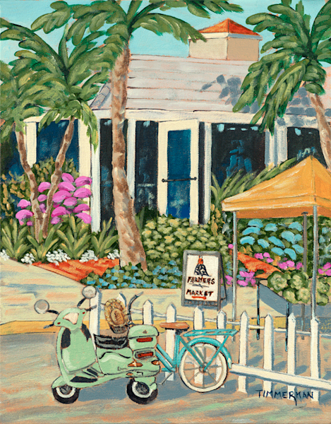 Saturday Morning Market fine art print by Barb Timmerman.