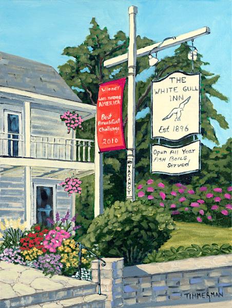 The White Gull Inn fine art print by Barb Timmerman.