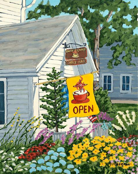 Base Camp Coffee fine art print by Barb Timmerman.