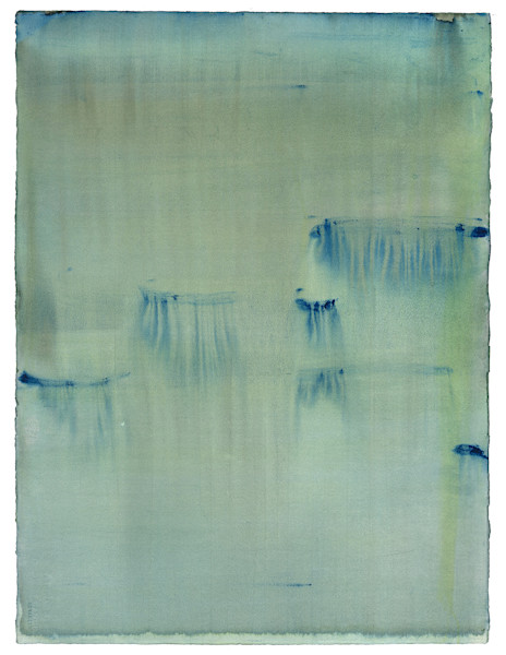 Into the Mist - Minimal contemplative landscape paintings by Caroline Wright.