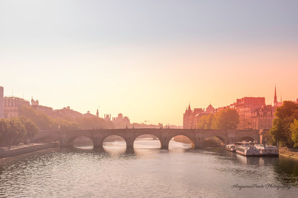 Sunrise over the River Seine photograph by Ivy Ho available as fine art print