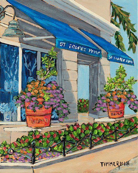 St Tropez Home fine art print by Barb Timmerman.
