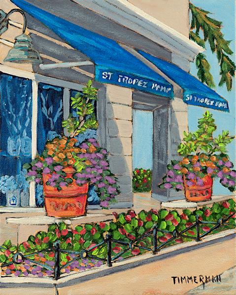 St Tropez Home fine art print by Barb Timmerman.