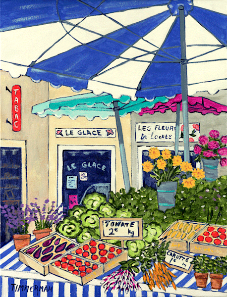 Market In Provence fine art print by Barb Timmerman.