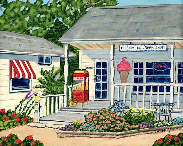 Dippy's Ice Cream fine art print by Barb Timmerman.