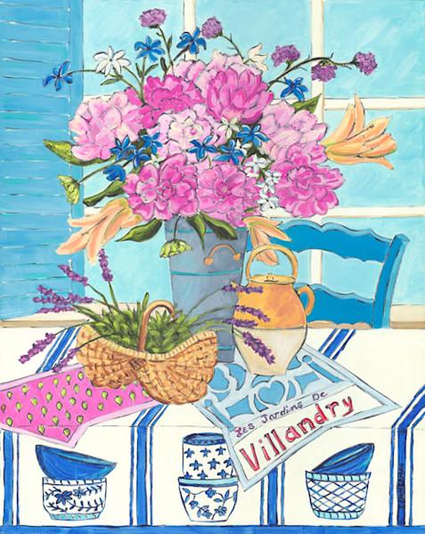 Maison et Jardin fine art print by Barb Timmerman.