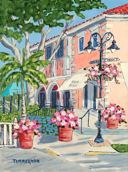 Shopping on the Ave fine art print by Barb Timmerman