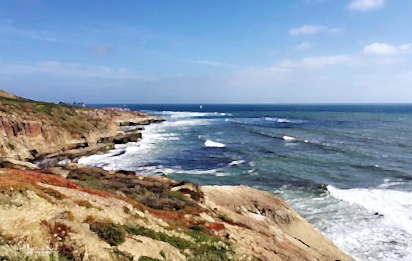 California Coastline - digital painting photograph