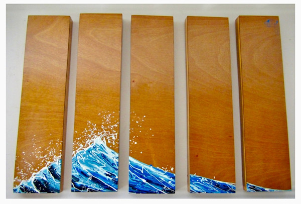 Buchanart Original Chopstick Drip Paintings