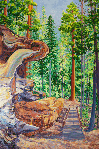 Original Giant Sequoia Paintings - Art by Joy Collier