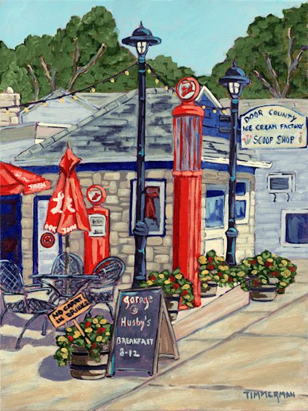 Sister Bay Sidewalk fine art print by Barb Timmerman.