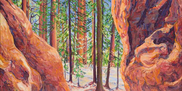 View From A Bears Den Art by Joy Collier's California Landscape Art