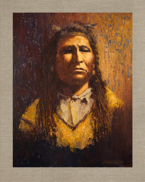 New Chest, Piegan Blackfoot, Native Americans, American Indians, Portraits, Oil Paintings, Mark Kashino