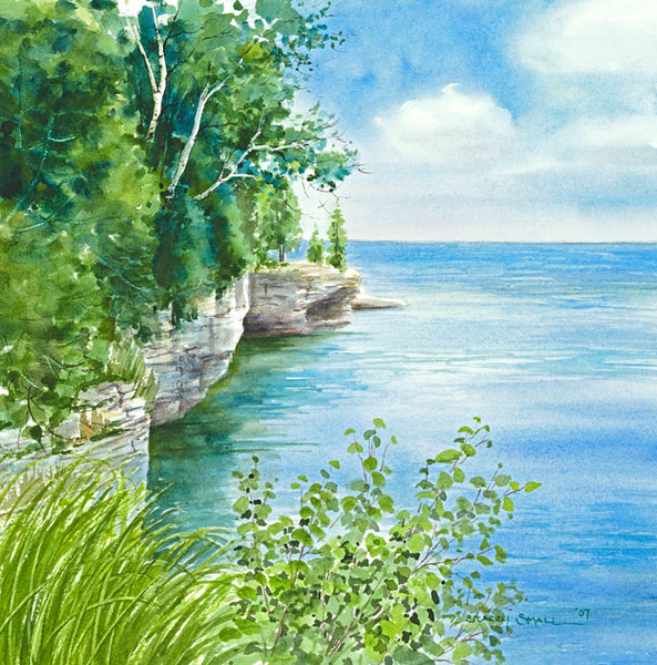 Cave Point fine art print by Stacey Small Rupp.