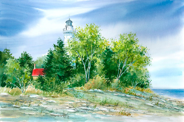 Cana Island Lighthouse fine art print by Stacey Small Rupp.