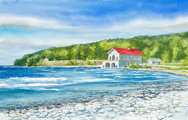 Rock Island fine art print by Stacey Small Rupp.