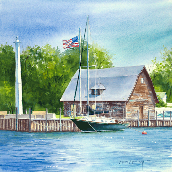 Anderson Dock fine art print by Stacey Small Rupp.