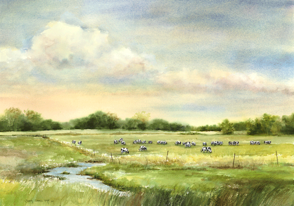 Happy Cows fine art print by Stacey Small Rupp.