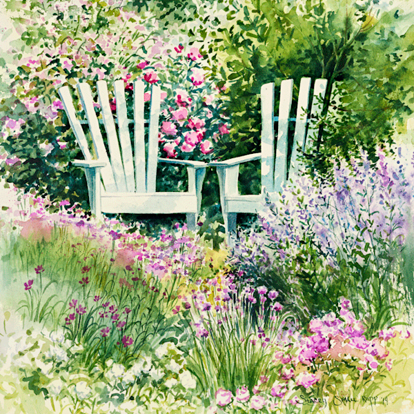 Garden Chairs fine art print by Stacey Small Rupp.