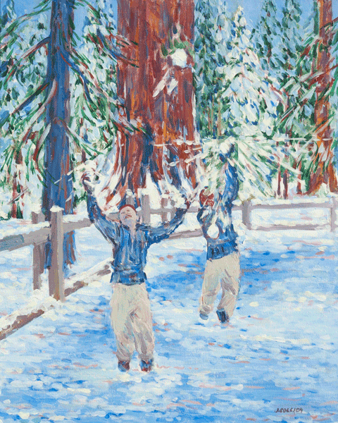 Snowball Fun In Kings Canyon Naitonal Park Art | Joy Collier's California Landscape Art