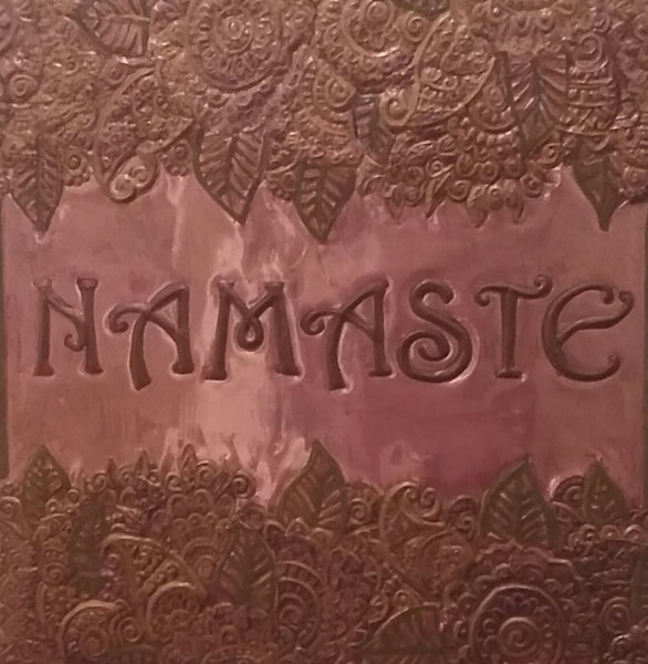 Namaste Repoussê.Spiritual Copper Artistry by Adria. Wall Decor.