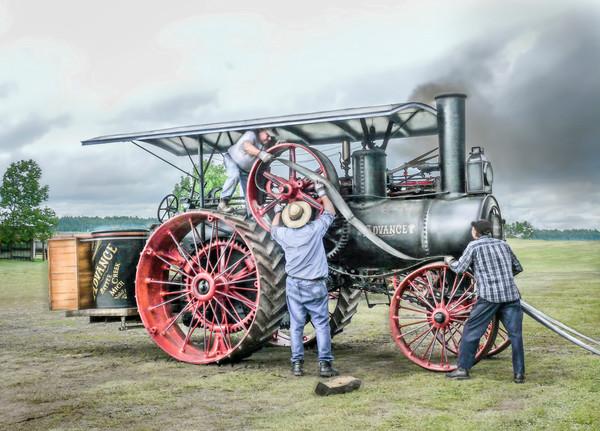 Belting An Advance Steam Powered Traction Engine Antique fleblanc