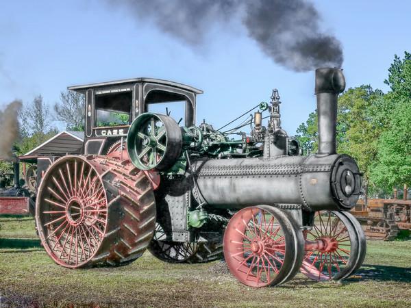 Rare JL Case 110 HP Steam Powered Tractor Antique Farming fleblanc