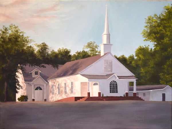 Original Oil Paintings of Buildings, Old Barns, Houses, and Churches