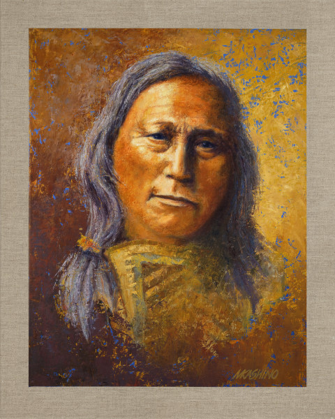 Hollow Horn Bear, Native Americans, American Indians, Portraits, Oil Paintings, Mark Kashino