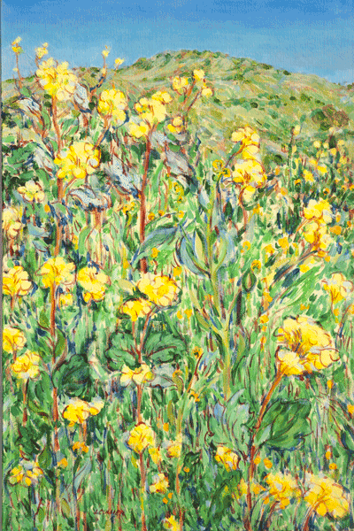California Hills With Wild Mustard Art | Joy Collier's California Landscape Art