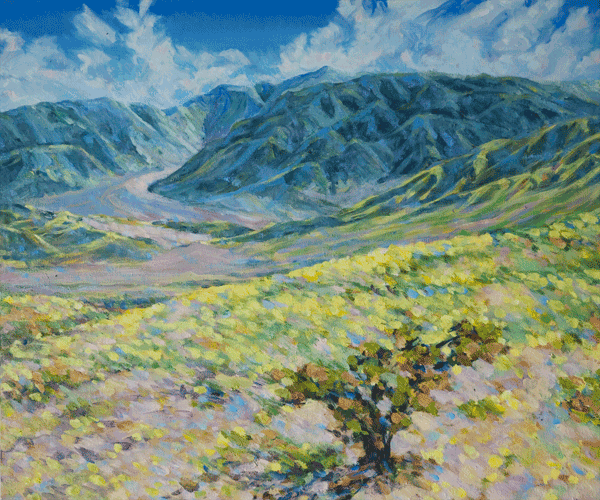 Death Valley Spring Bloom 2 Art | Joy Collier's California Landscape Art